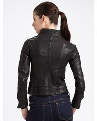 Improvd | Black Cropped Leather Jacket | Lyst