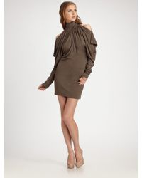 Improvd | Brown Cut-out Turtleneck Dress | Lyst