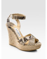 Jimmy Choo | Natural Pheonix Espadrille Wedges | Lyst
