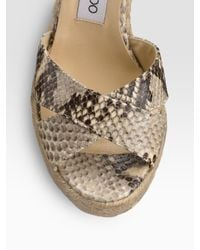 Jimmy Choo - Natural Pheonix Espadrille Wedges - Lyst