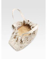 Jimmy Choo - White Riki Lasercut Leopard Shoulder Bag - Lyst