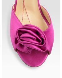 kate spade new york - Pink Satin Sandals - Lyst
