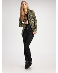 Larok | Green Officer Camouflage Jacket | Lyst