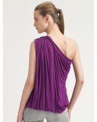 M Missoni - Purple One-shoulder Jersey Top - Lyst