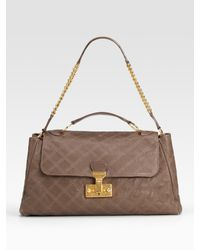 Marc Jacobs | Brown Baroque Quilting Minetta Shoulder Bag | Lyst