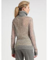 Michael Kors | Gray Mohair Turtleneck Sweater | Lyst