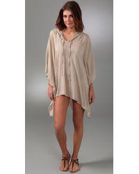 Mikoh Swimwear | Natural San Sebastian Hooded Caftan | Lyst