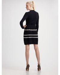 MILLY - Blue Les Halles Sweater Dress - Lyst