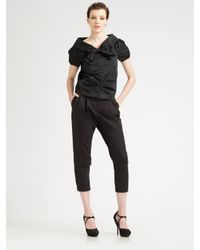Nina Ricci | Black Bow-front Top | Lyst