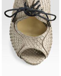 Pour La Victoire | Natural Whipsnake Cutout Sandal Boots | Lyst