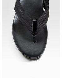 Prada - Black Platform Thong Slides - Lyst