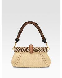 Prada | Natural Paglia Twist Straw Shoulder Bag | Lyst