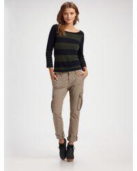 Rag & Bone | Blue Striped Boatneck Sweater | Lyst