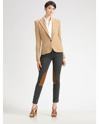 Ralph Lauren Black Label | Natural Cashmere-blend Knit Jacket | Lyst