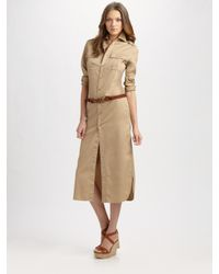 Ralph Lauren Blue Label | Brown Expedition Chino Shirtdress | Lyst