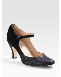 Repetto | Black Gitane Suede Mary Jane Pumps | Lyst