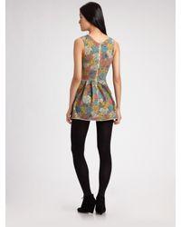 Seneca Rising | Multicolor Printed Mini Dress | Lyst