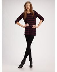 Splendid - Red Rugby Stripe Tunic Top - Lyst