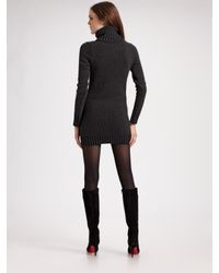 Theory - Gray Wool/cashmere Sweater Dress - Lyst