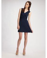 Theory - Blue Wrap-around Stretch Dress - Lyst