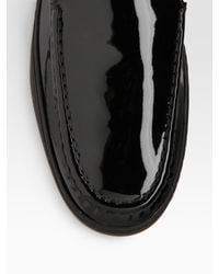 Tod's - Black Patent Leather Loafers - Lyst