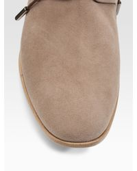 Tod's - Natural Fondo Polacco Suede Ankle Boots - Lyst