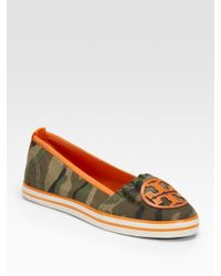 Tory Burch | Green Canvas Sneakers | Lyst