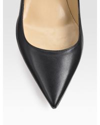 Valentino - Black Studded Bow Pumps - Lyst