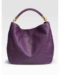 Saint Laurent | Purple Violet Lambskin Roady Hobo | Lyst