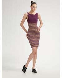 Z Spoke by Zac Posen | Purple Boatneck Knit Dress | Lyst