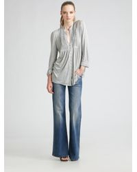 7 For All Mankind - Gray Dojo Trouser Jeans - Lyst