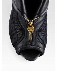 Alexander McQueen | Gray Denim Motorcycle Jacket | Lyst
