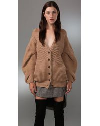 Alexander Wang - Natural Large Cable Cardigan - Lyst