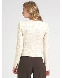 Armani - White Textured Matelasse Jacket - Lyst