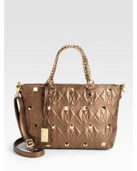 Badgley Mischka | Metallic Kelly Ii Quilted Leather Tote | Lyst