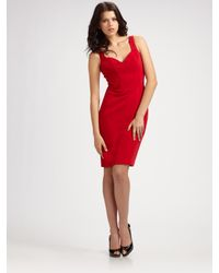 Black Halo | Red Laura Sheath Dress | Lyst