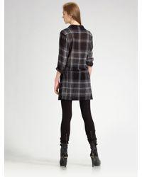 Burberry Brit   Gray Check Shirt Dress   Lyst