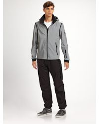 Burberry Sport | Gray Zip-sleeve Nylon Hoodie for Men | Lyst