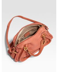 Chloé | Pink Paraty Medium Perforated Leather Tote | Lyst