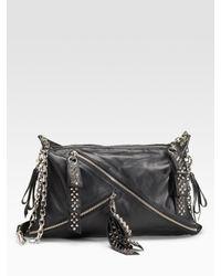 Christian Louboutin | Black Trophe Studded Nappa Bag | Lyst