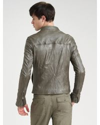 Converse - Metallic Crinkled Leather Jacket for Men - Lyst