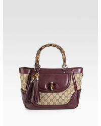 Gucci | Brown Bamboo-handle Tote | Lyst