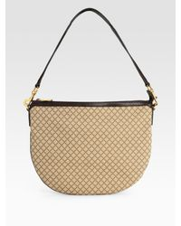 Gucci | Natural Half Moon Diamante Shoulder Bag | Lyst