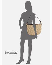 Gucci - Natural Half Moon Diamante Shoulder Bag - Lyst