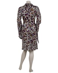 Issa | Multicolor Silk Dress with Chiffon Sleeves. | Lyst