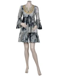 Leaves Of Grass - White Cotswolds Bell Sleeve Dye Tie Dress - Lyst
