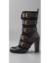 Marc By Marc Jacobs Black Quilted Leather Boots