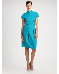 Max Mara | Blue Senape Wrap Dress | Lyst