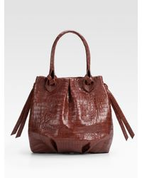 Nancy Gonzalez | Brown Crocodile Large Hobo | Lyst
