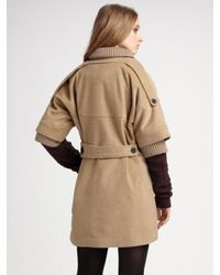 Opening Ceremony - Natural Shawl Collar Coat - Lyst